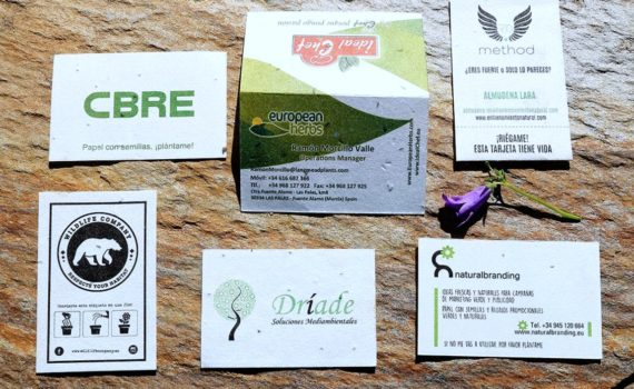 The Flower Seed Paper Business Cards Is An Amazing And Eco Friendly Alternative To Standard Card Made With Plantable These